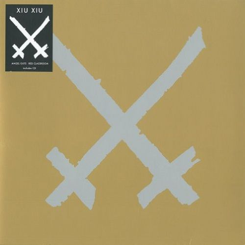 XIU XIU Angel Guts : Red Classroom Vinyl Record LP Polyvinyl Record Company 2014 Clear Yellow Vinyl